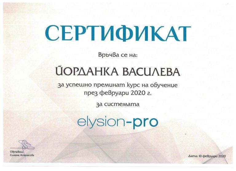 certificate Jordanka