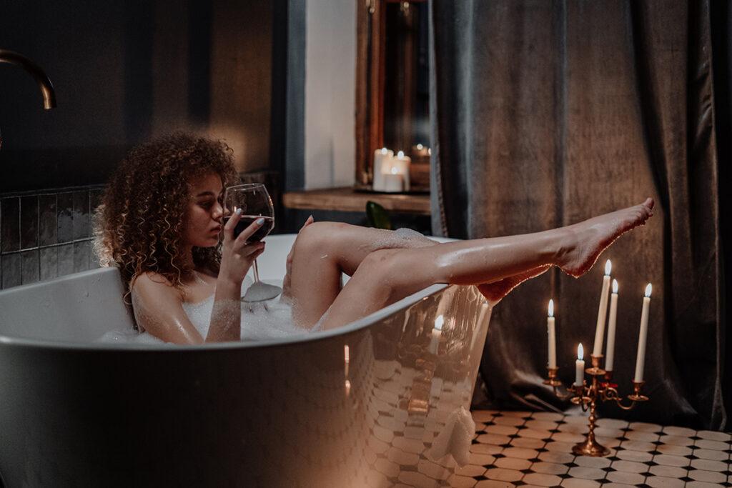 girl in a bathtube